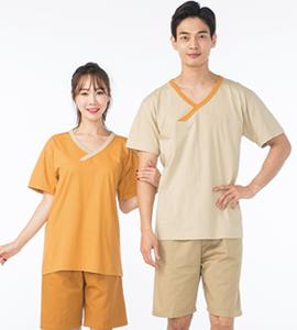 계량한복형 찜질복_코랄/쑥색 (B121_120)